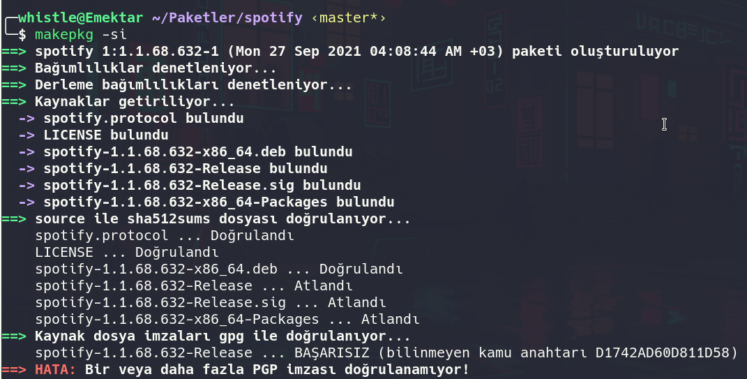 arch linux spotify kurulum hata.png
